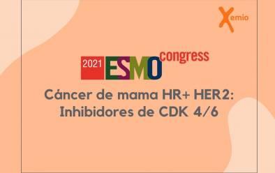 Avances ESMO 2021. Cáncer de mama HR+ HER2: inhibidores de CDK 4/6